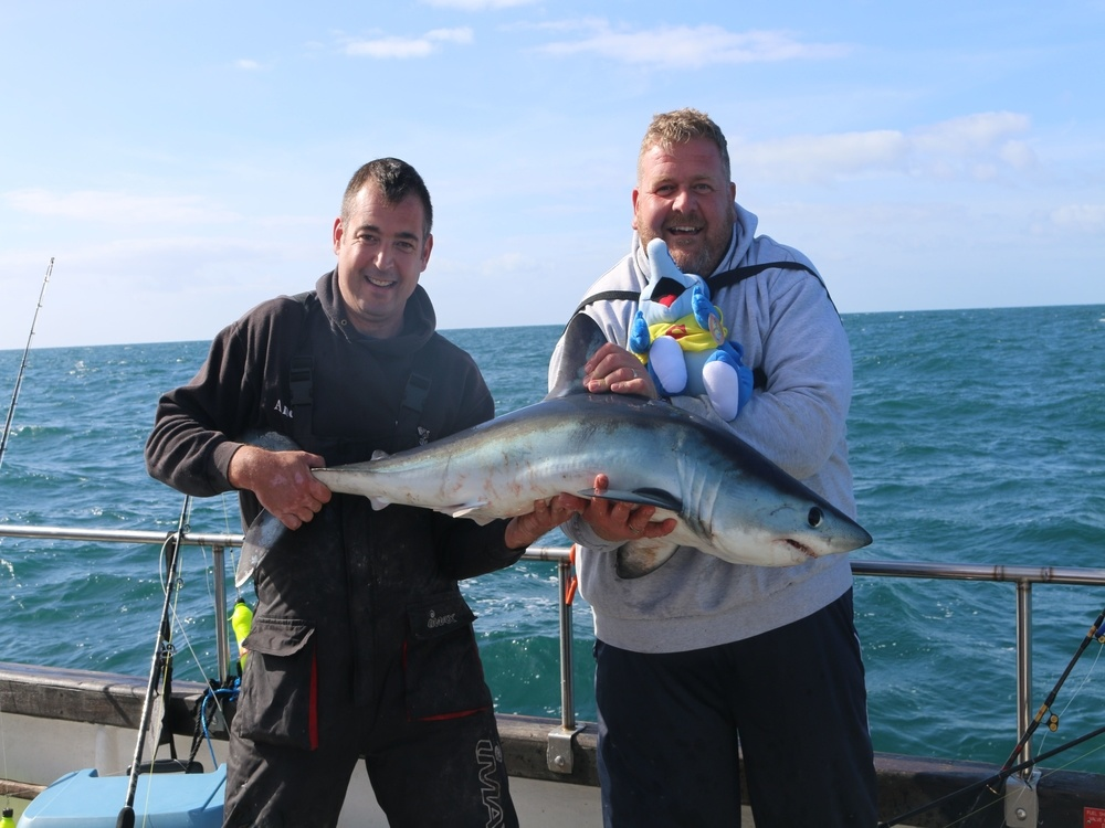 Shark fishing trip weymouth snapper charters for Charter fishing trip